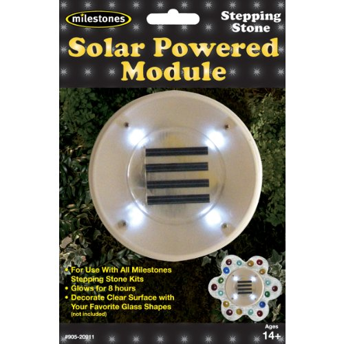 Midwest Products Stepping Stone Solar Powered Module (Stepping Glow Stones Powered Solar)