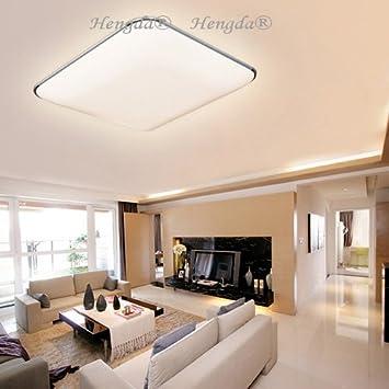 HengdaR 64W LED Deckenleuchte Modern Deckenlampe 2700K 3200K Warmweiss Schlafzimmer Wohnzimmer Lampe 230V