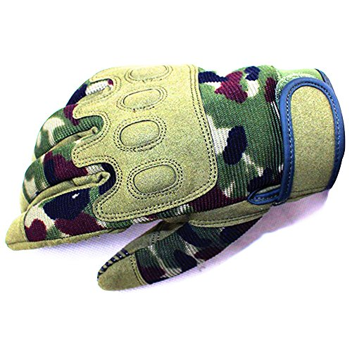 JYHY Outdoor Climbing Paratrooper Training Full Finger Protective Camouflage Gloves.Design MTB BMX Motocross Gloves for Cycling Bike Climbing Hiking