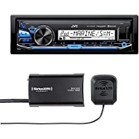 JVC KD-X33MBS Marine Grade Bluetooth In-Dash Mechless Stereo with included SiriusXM Tuner