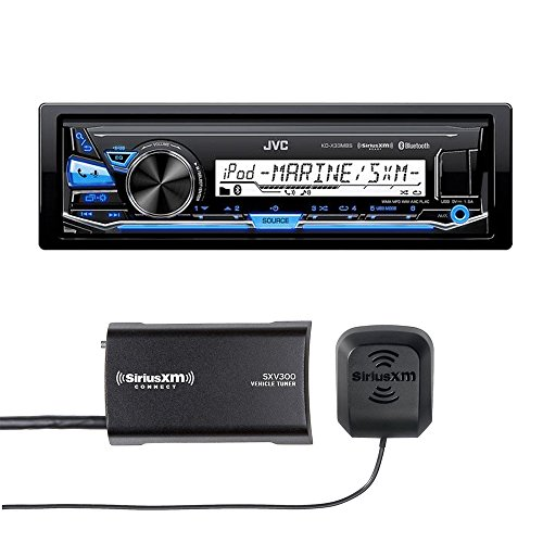 JVC KD-X33MBS Marine Grade Bluetooth In-Dash Mechless Ste...