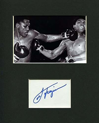 Autographed Joe Frazier Picture - Heavyweight Olympic Champ Rare Display - Autographed Boxing Photos (Joe Frazier Autograph)
