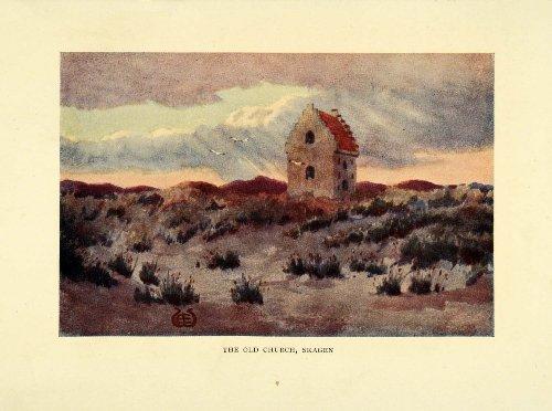 1909 Print Buried Church Skagen Ellen Wilkinson Skaw Tilsandede Kirke Medieval - Original Color (Skagen Designs)