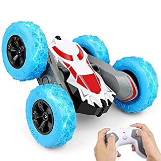 Remote Control Car, RC Stunt Cars Toy, 4WD 2.4Ghz Double Sided 360° Flips Rotating Vehicles, Off Road High Speed Racing Truck for 6 7 8-12 Year Old Kids Boys Girls Christmas Birthday Gift