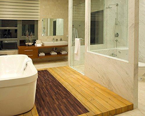 ChasBete Non-Slip Kitchen Floor Mat Slip Resistant Home Hallway Bathroom Runner Indoor Carpet Outside Door Rug Thin Cushioned Waterproof Heavy Duty Sticker(Wood Grain) by ChasBete (Image #4)
