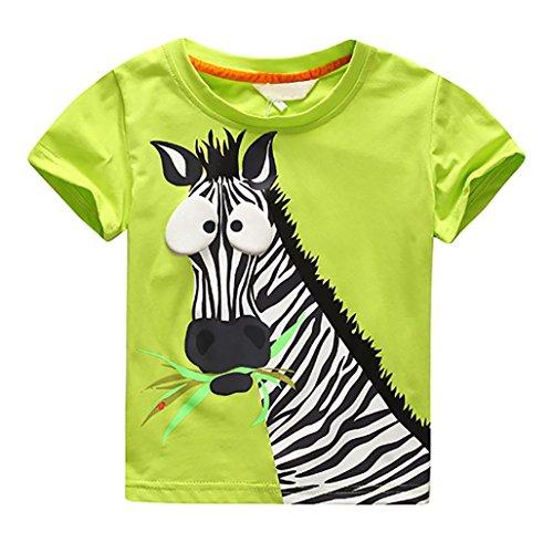 D'impression Tenues Vert T Enfants Blouse 2 Zèbre Caractère shirt Ans ❤️vêtements Tops 7 Pour Vêtements De Bébé Garçon Garçons Amlaiworld w8HpO7