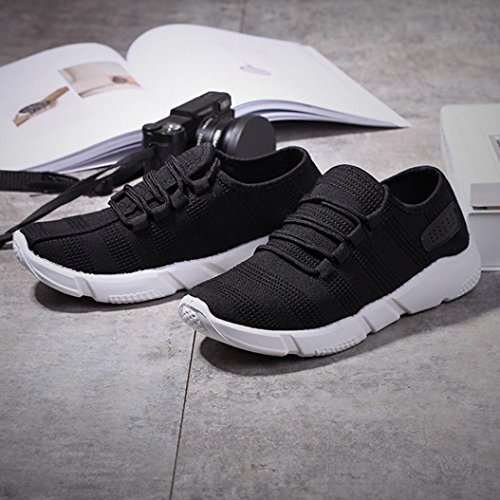Men's Sneakers, OverDose Comfortable Sports Walking Shoes Black