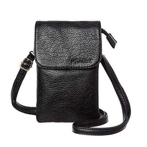 MINICAT Roomy Pockets Series Small Crossbody Bags Cell Phone Purse Wallet For WomenBlack