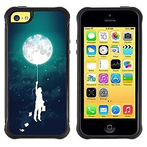 "Hypernova Defender Series TPU protection Cas Case Coque pour Apple iPhone 5C [Muchacho del globo Niños Madre Noche""]"