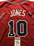Autographed/Signed Chipper Jones Atlanta Braves Red Baseball Jersey Review and Comparison