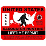 RDW United States Sasquatch Hunting Permit Sticker Premium Decal Die Cut Bigfoot Big Foot US USA