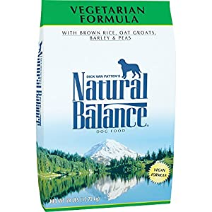 Natural Balance Brown Rice, Oat Groats, Barley & Peas Dry Dog Food, 28 Pounds, Vegetarian, Vegan 113