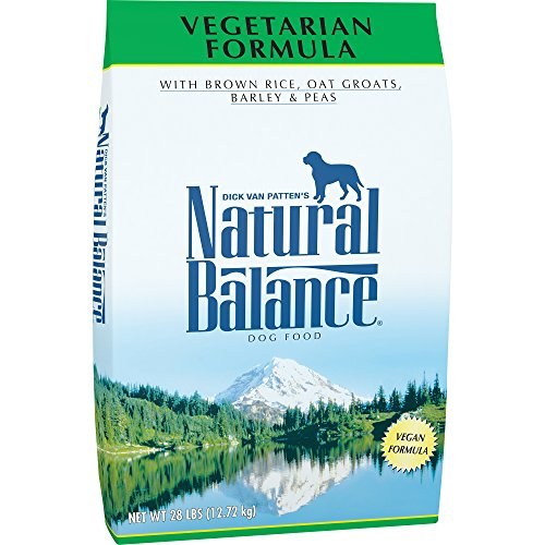 Natural Balance Brown Rice, Oat Groats, Barley & Peas Dry Dog Food, 28 Pounds, Vegetarian, Vegan