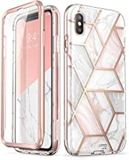i-Blason Cosmo Full-Body Case for iPhone Xs/ iPhone X Case 2018 Release, Marble, 5.8&