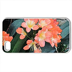 Attractive Flowers at the garden 16 - Case Cover for iPhone 4 and 4s (Flowers Series, Watercolor style, White)