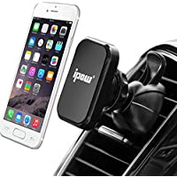 IPOW Magnetic Car Vent Phone Mount With Tight Spring Gripper,Super Compact Phone Holder Fits Most of Popular Phones like iPhone,Google,Samsung and GPS Device