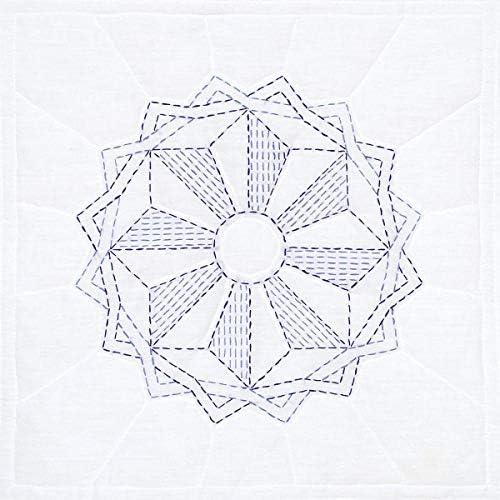 Jack Dempsey Needle Art Running Star Hand Embroidery 18 x 18 White