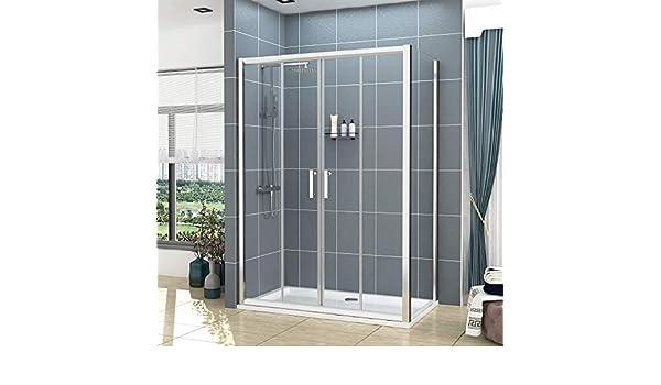 Mampara de ducha rectangular de cristal de 6 mm con bandeja de ...