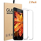 Tripsky iPhone 8 Plus, 7 Plus Screen Protector Tempered Glass,iPhone 8 Plus, 7 Plus Tempered Glass Crystal Clear And 9H Hardness Scratch Proof (Transparent,2 pack)