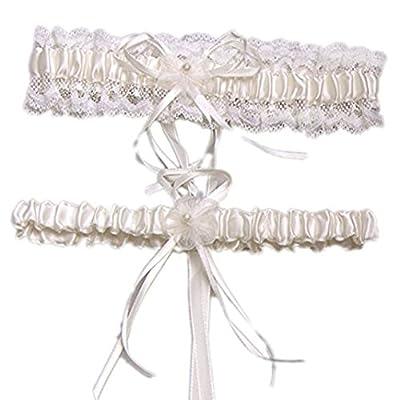 Eliffete 2018 Sexy Rhinestone Bridal Garters Lace Wedding Garter Set with Pearls