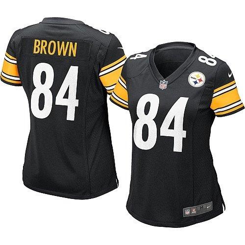 Nike pour Femme (XL) Antonio Marron Pittsburgh Steelers Jeu Jersey–Noir