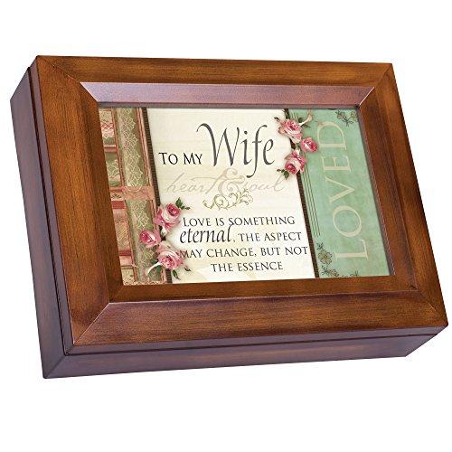 Cottage Garden Wife Love Something Eternal Woodgrain Digital Keepsake Music Box Plays My Wish