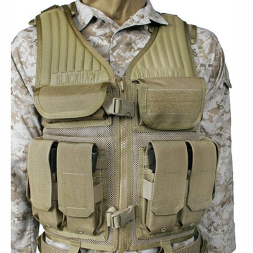 BLACKHAWK! Omega Elite Tactical Vest Number 1 - Coyote Tan