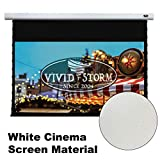 VIVIDSTORM Office Presentation Mortar Mount Tension Screen,Electric Drop Down Projector Screen,120-inch Diag 16:9, White Cinema Screen Material,Gain 1.1, Wireless 12V Projector Trigger,Model:VXZLW120H