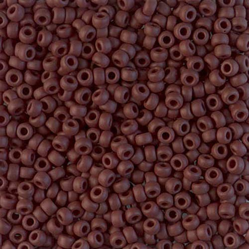 8/0 Japanese Seed Beads Opaque Matte Chocolate Brown Round Beads 28GRAMS Spacer Beads and Roll Crystal String for Bracelets Jewelry Making ()