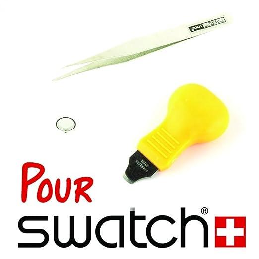 My-Reloj-kit de reparación de Swatch barato Contenido: 1-kit de sustitución de pila de reloj Swatch-Pila: 390 Swatch para reloj: Amazon.es: Relojes