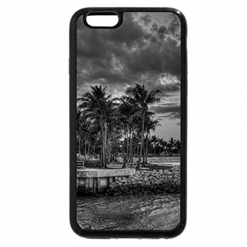 iPhone 6S Plus Case, iPhone 6 Plus Case (Black & White) - sunset in dubois park jupiter florida hdr