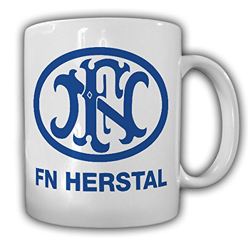 FN Fabrique national Herstal logo weapons factory of Hertseller Belgium sports weapons fan - Morning Coffee Mug #13332