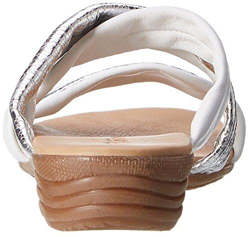 White Blanc EU Femme Bout 27114 Sandales 37 Silver 191 Ouvert Cognac Tamaris UqzpFwf
