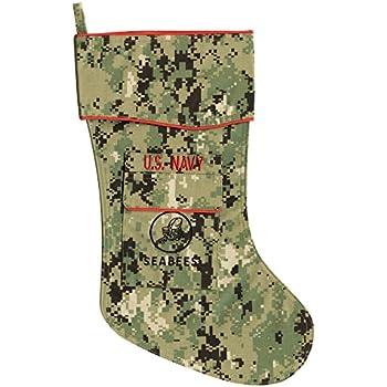 U.S Navy Christmas Stocking New NWU 111 Uniform Fabric by Camosock