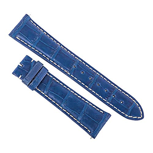 Swiss Watch International 21 MM Cobalt Blue Genuine Alligator Strap 21ABT24C
