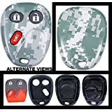 APDTY 24729HZD Gray Digital Camouflage Keyless Entry Key Fob Replacement Case (Case ONLY) Fits Selct GM Vehicles; Match to Picture & View Compatibility Chart For Exact Fitment (Replaces 10377295)