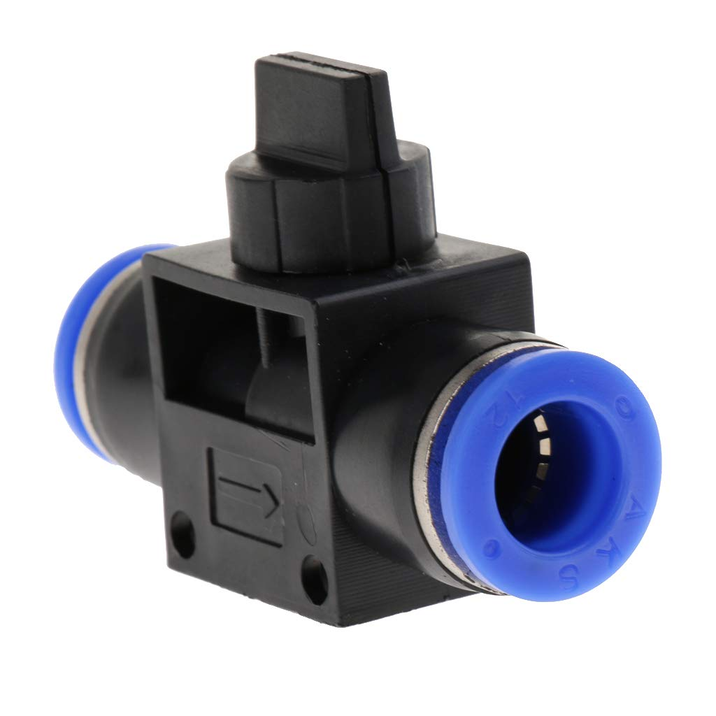 Black Air Pneumatic Push in Fitting Connector Quick Fittings4mm 6mm 8mm 10mm 12mm 6mm Fitting Size
