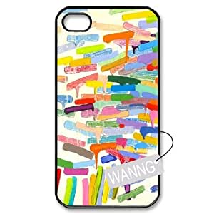 Colorful Abstract Rubber Iphone4,4g,4s Cover Case, Colorful Abstract Rubber Custom Case for Iphone4,4g,4s at WANNG
