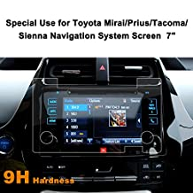 Toyota Mirai/Prius/Tacoma/Sienna 7-Inch Car Navigation Screen Protector,LFOTPP [9H Hardness] Tempered Glass In-Dash Screen Protector Center Touch Screen Protector Anti Scratch High Clarity