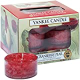 Yankee Candle Tea Light, Cranberry Pear, Scented Candle, Teapot Warmer, Set of 12, Tea Light, 1311128E