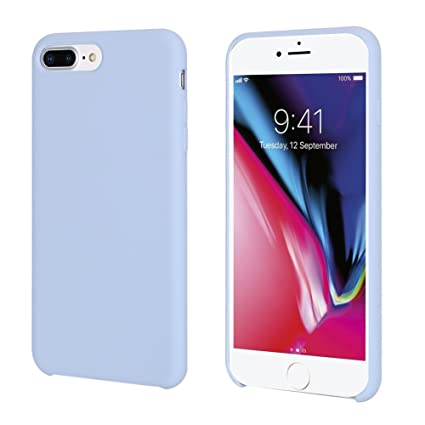 custodia silicone apple iphone 7 lightblue