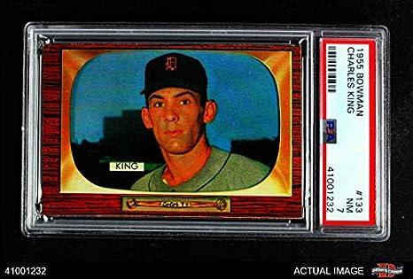 Amazoncom 1955 Bowman 133 Charles King Detroit Tigers Baseball
