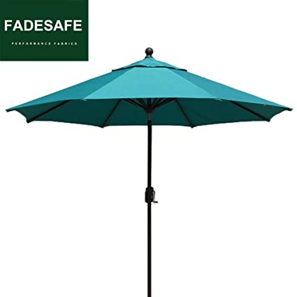 Merveilleux EliteShade Patio Umbrella 9u0027 Outdoor Table Market Umbrella With Push Button  Tilt And Crank (