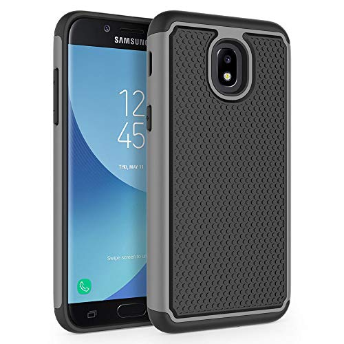 Case for Samsung Galaxy J3 2018 / J3 V 2018 / J3 Star / J3 Achieve 2018 / Galaxy Express Prime 3 / Galaxy Amp Prime 3 / Galaxy Sol 3, SYONER [Shockproof] Protective Phone Case Cover [Gray]