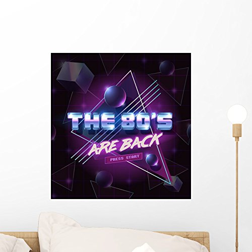 Vector Emblem 80's Are Wall Mural by Wallmonkeys Peel and Stick Graphic (18 in H x 17 in W) - 1980 Disco Fashion