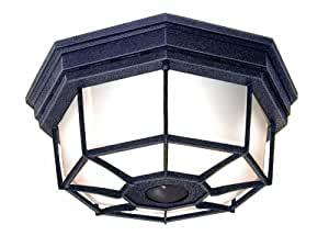 Heath/Zenith SL-4300-RS 360-Degree Motion-Activated Octagonal Ceiling Light, Rust