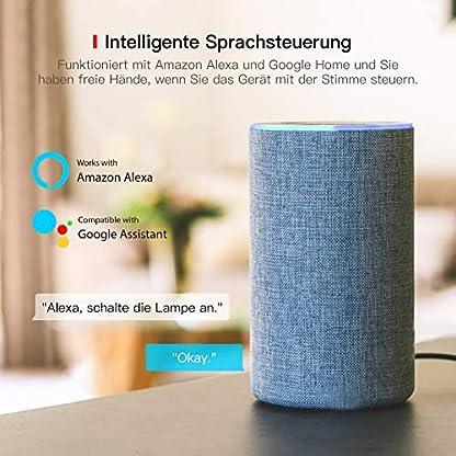 TECKIN Smart Wlan Steckdose 16A Wifi Intelligente Mini Steckdose, funktioniert mit Android und iOS Siri und Google Home, Alexa, Google Nest Hub, auf NUR 2.4 GHz Netzwerk (4 PACK) 3
