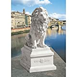 Design Toscano Lion of Florence Sentinel Statue and Base