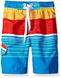 Kanu Surf Little Boys' Toddler Viper Stripe Swim Trunk, Aqua, 3T