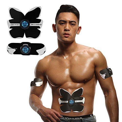 EMS腹筋ベルト タッチリモコン 腹筋トレーニング 腹筋器具 自動トレーニング お腹引き締め 脂肪落とし 美容美ボディ  黑 B07B2G7637